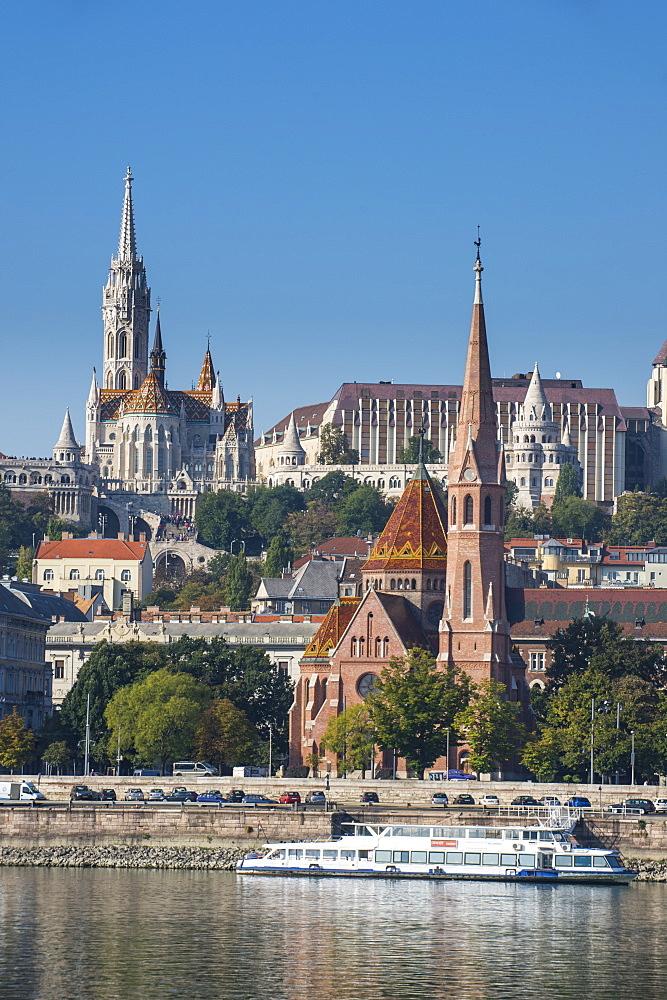 Panaorama photo of Buda, Budapest, Hungary, Europe