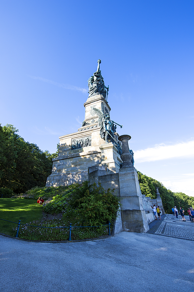 Niederwalddenkmal monument, Unesco world heritage sight Midle Rhine valley, Germany