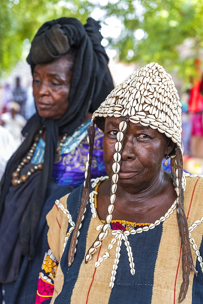 Woman at a Voodoo ceremony in Dogondoutchi, Niger, West Africa, Africa