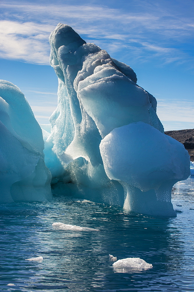Beautiful little icebergs, Hope Bay, Antarctica, Polar Regions