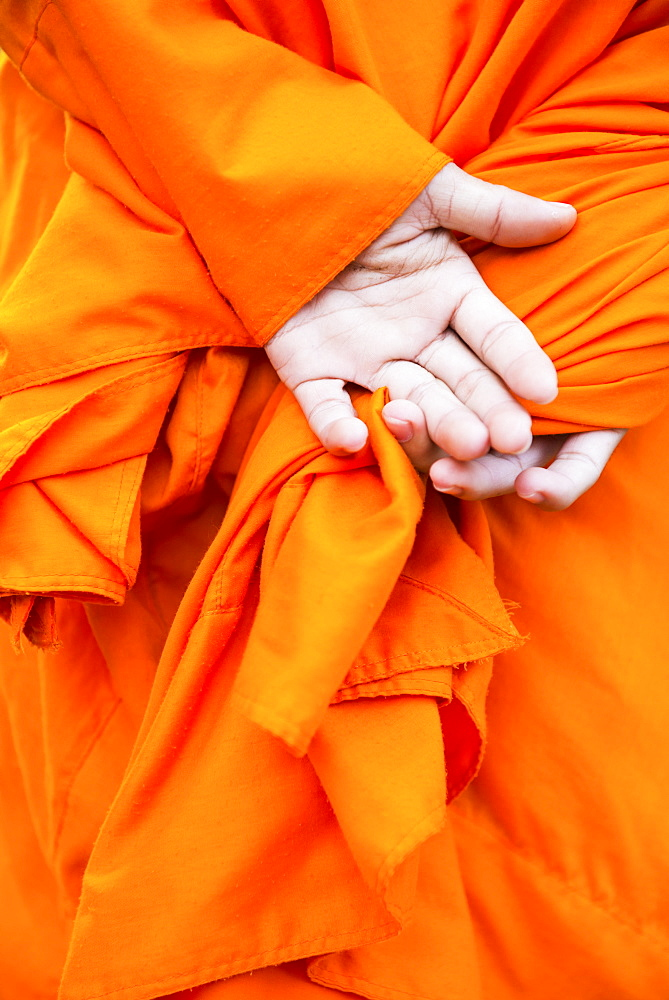 Monks hands, Siem Reap, Cambodia, Indochina, Southeast Asia, Asia