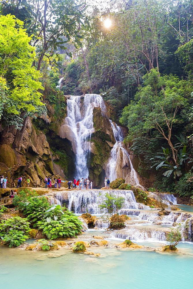 Kuang Si waterfalls, Luang Prabang, Laos, Indochina, Southeast Asia, Asia - 1186-57
