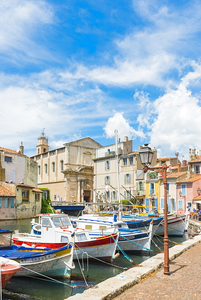 Boats in Martigues port, Bouches-du-Rhone, Provence, Provence-Alpes-Cote d'Azur, France, Europe