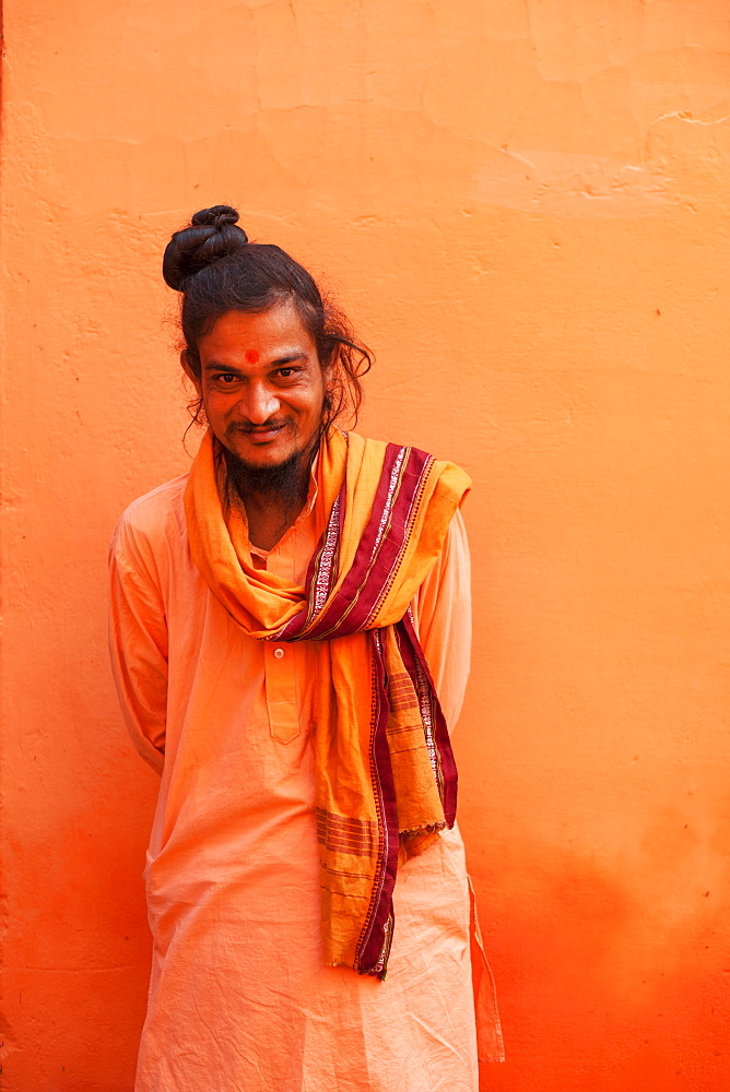 Sadhu, Varanasi (Benares), Uttar Pradesh, India, Asia - 1186-76