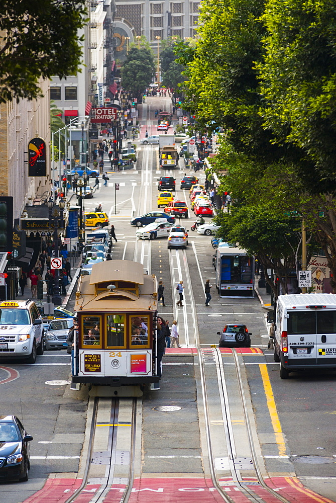 Trams (cable car), San Francisco, California, United States of America, North America