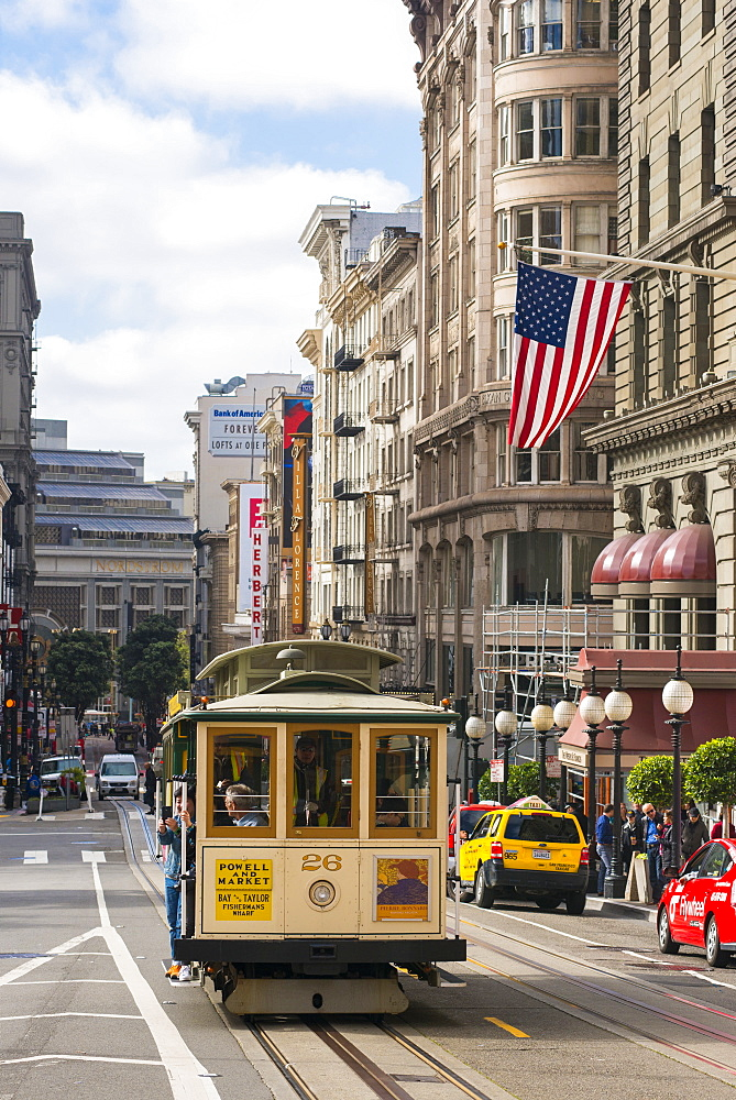 Trams, San Francisco, California, United States of America, North America