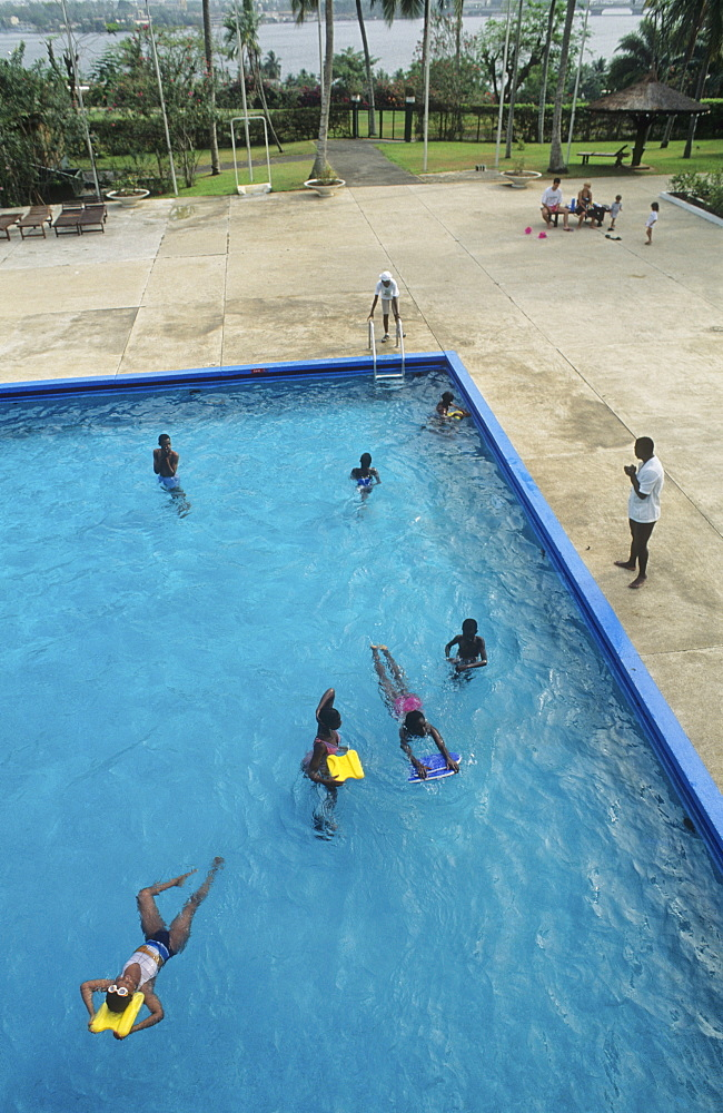 Swimming pool, ivory coast. Abidjan - city