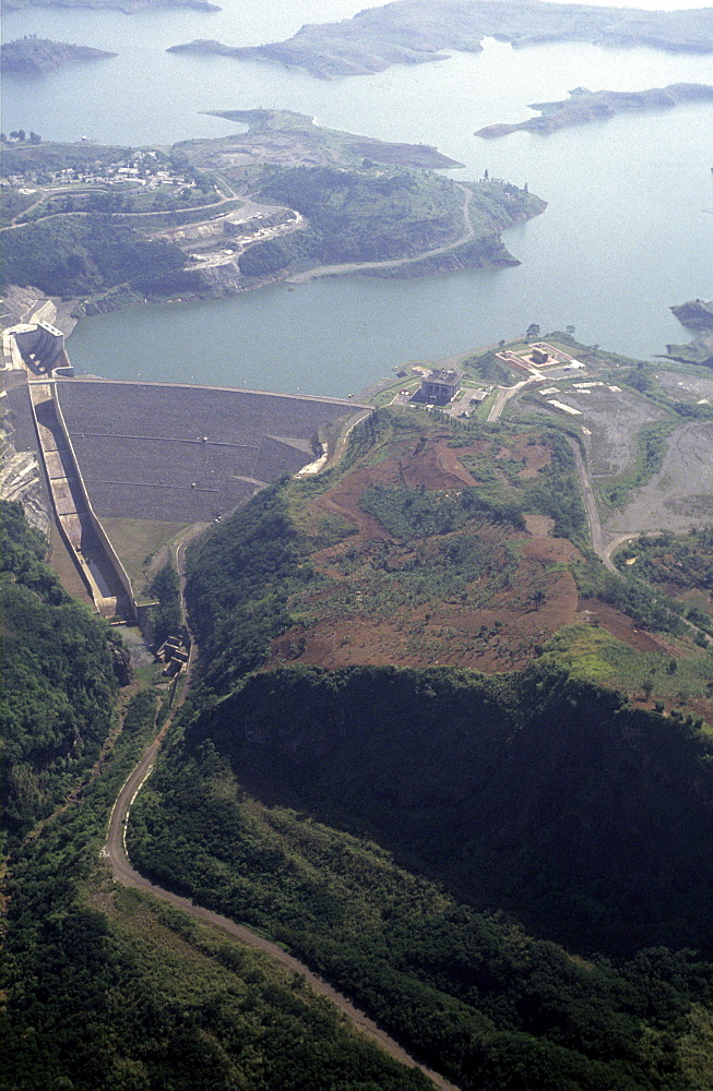 Hydro, electric dam, indonesia.