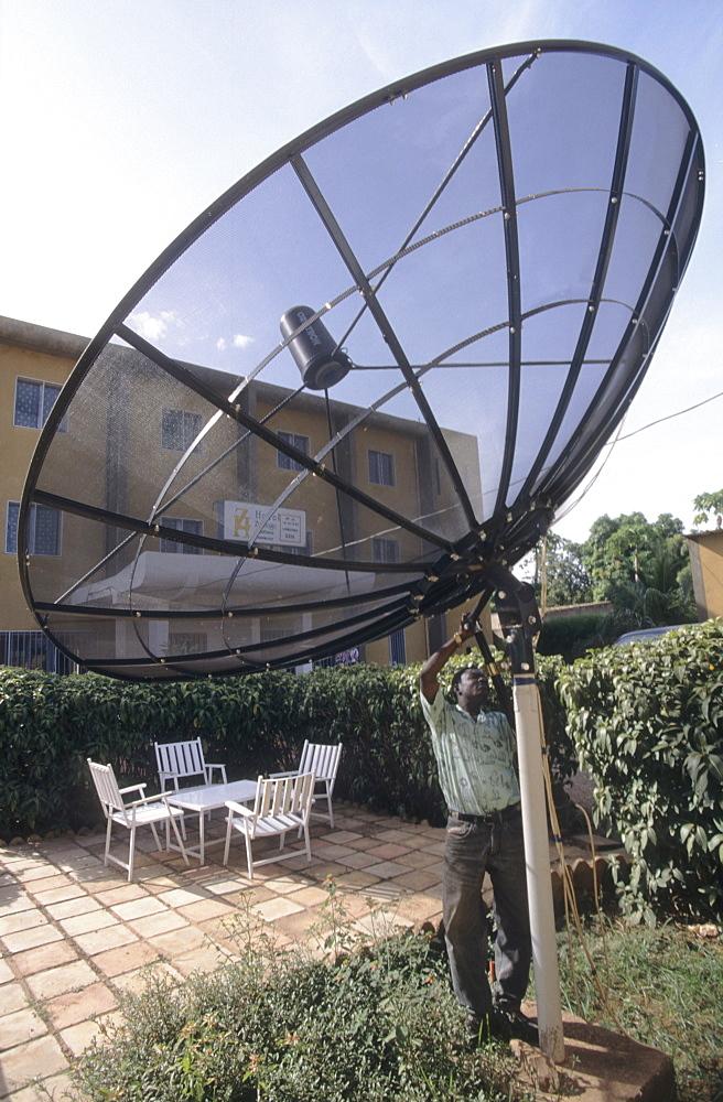 Satellite dish, burkina faso. Ougadougou. Communications