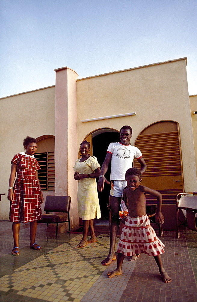 Burkina faso, wealthy family. Ouagadougou. Family life