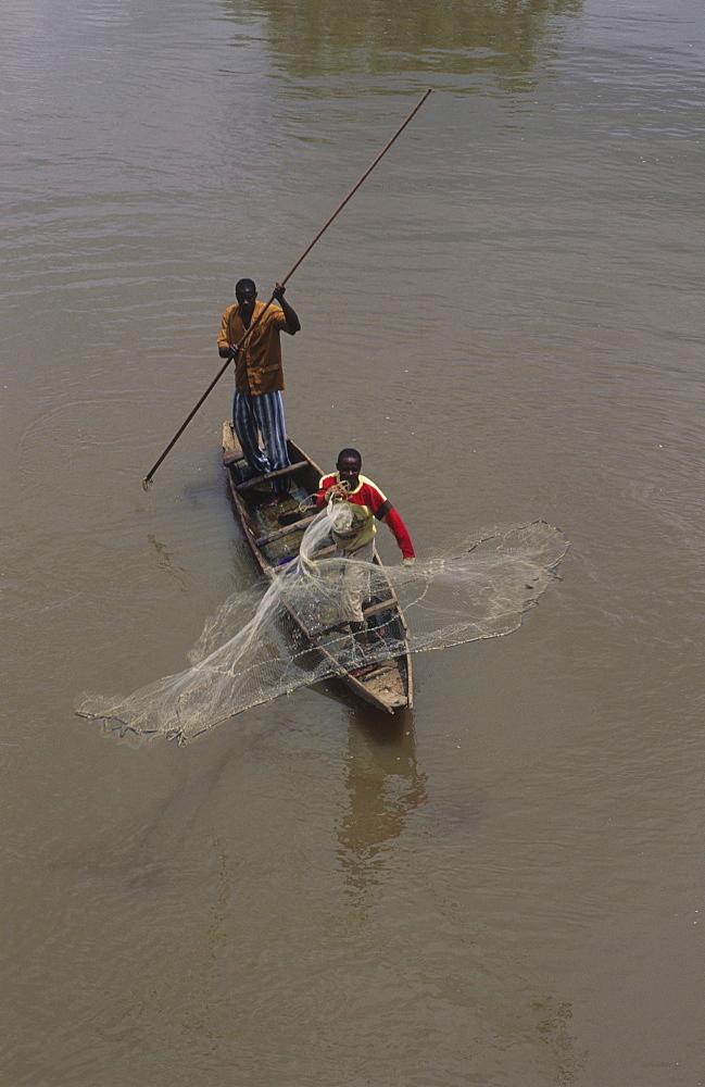 Fishing, ivory coast. Ngolodougou river
