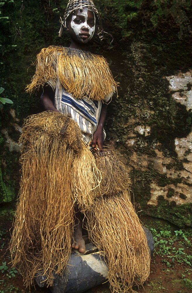 Yakouba tribal dance, ivory coast. Traditional dance.