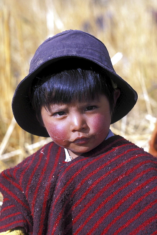 Native boy, ecuador. The andes