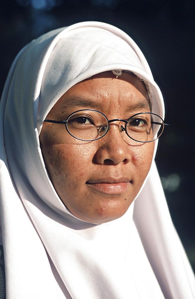 Indonesia. Javanese woman in malang, east java.
