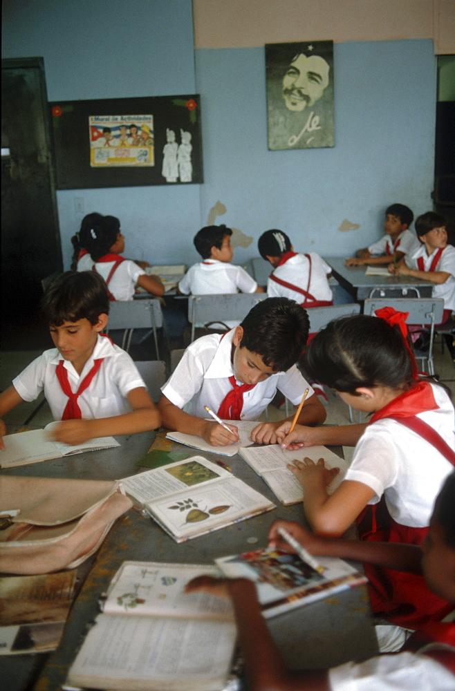Cuba. Primary school classroom. Havana
