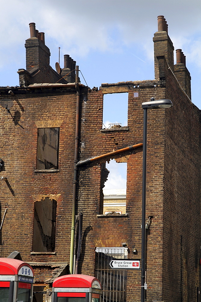Damage caused by riot and looting in tottenham, london, uk