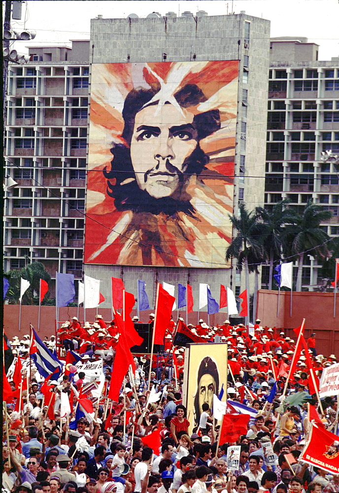 Cuba, rally in revolution square. Havana.