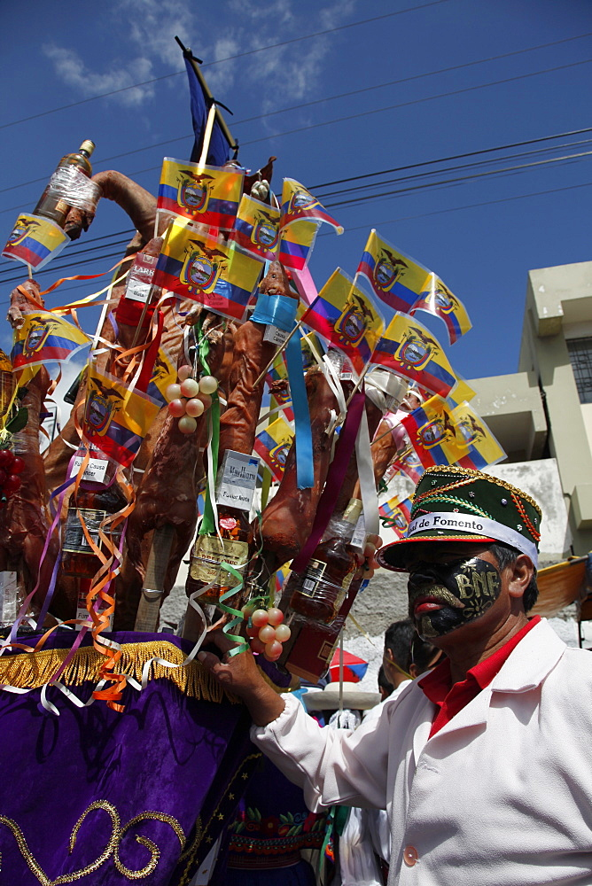 Mama Negra traditional festival in Latacunga, Ecuador, South America