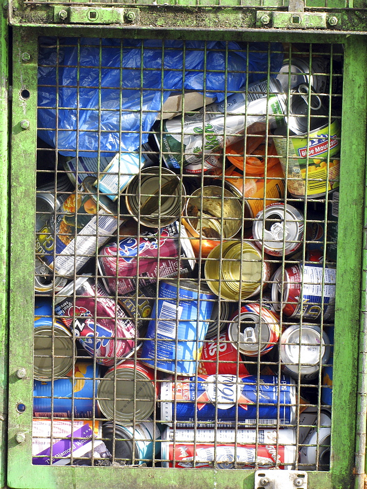 Uk. Recycling collection in hackney, london