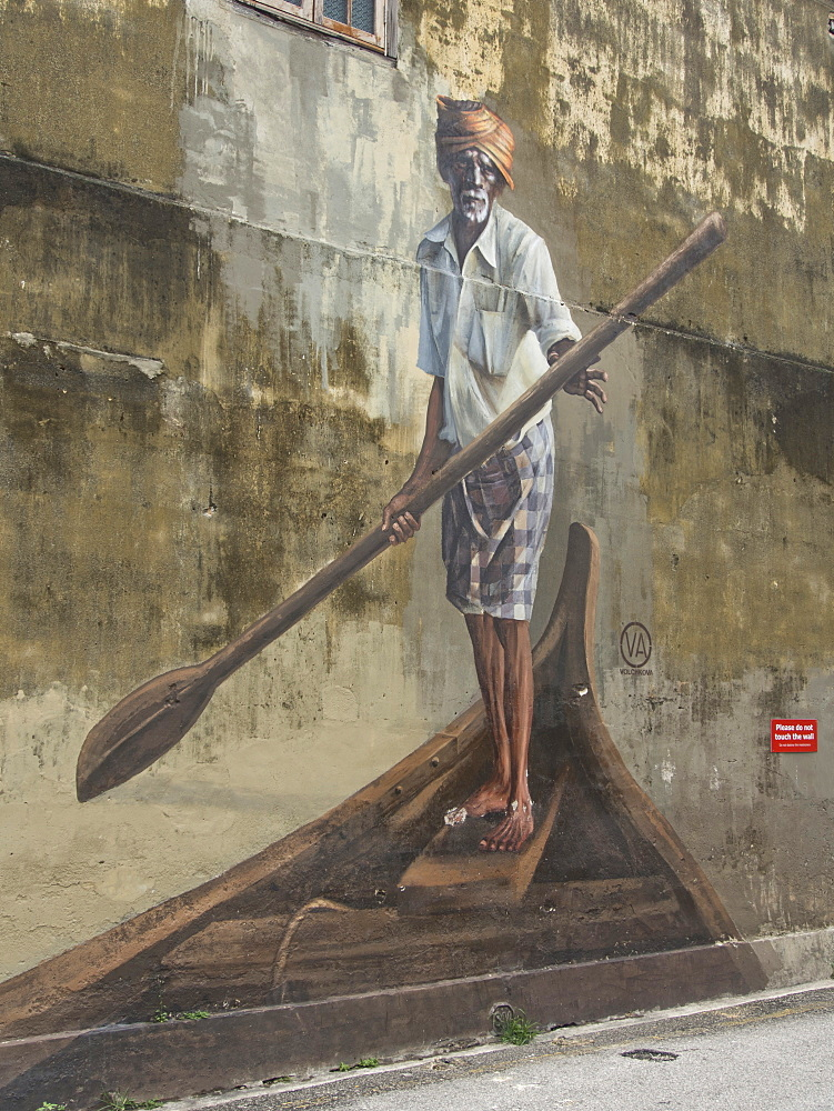 Street art mural in Penang, Malaysia, Southeast Asia, Asia