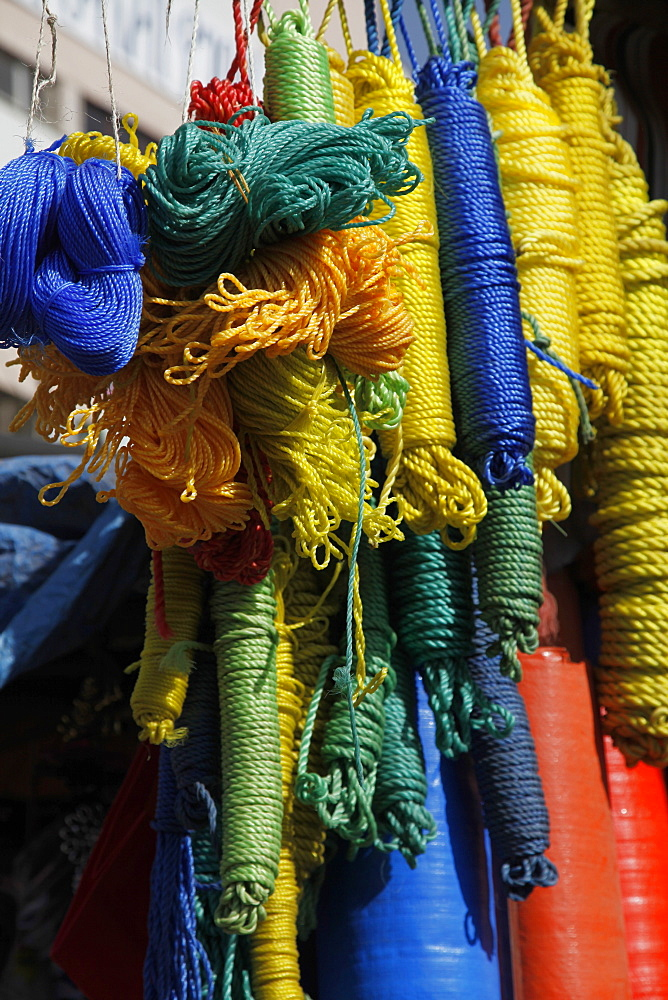 Ropes for sale at the market in Bahir Dar, Ethiopia, Africa
