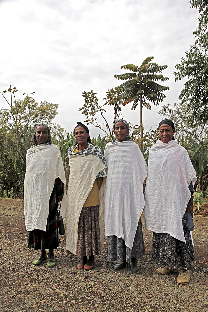 Women with traditional dress in the Jimma region of Ethiopia, Africa