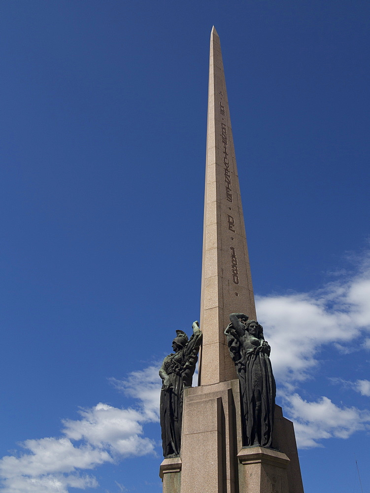 Obelisk marking the first constitution after Independence. Montevideo, Uruguay, South America