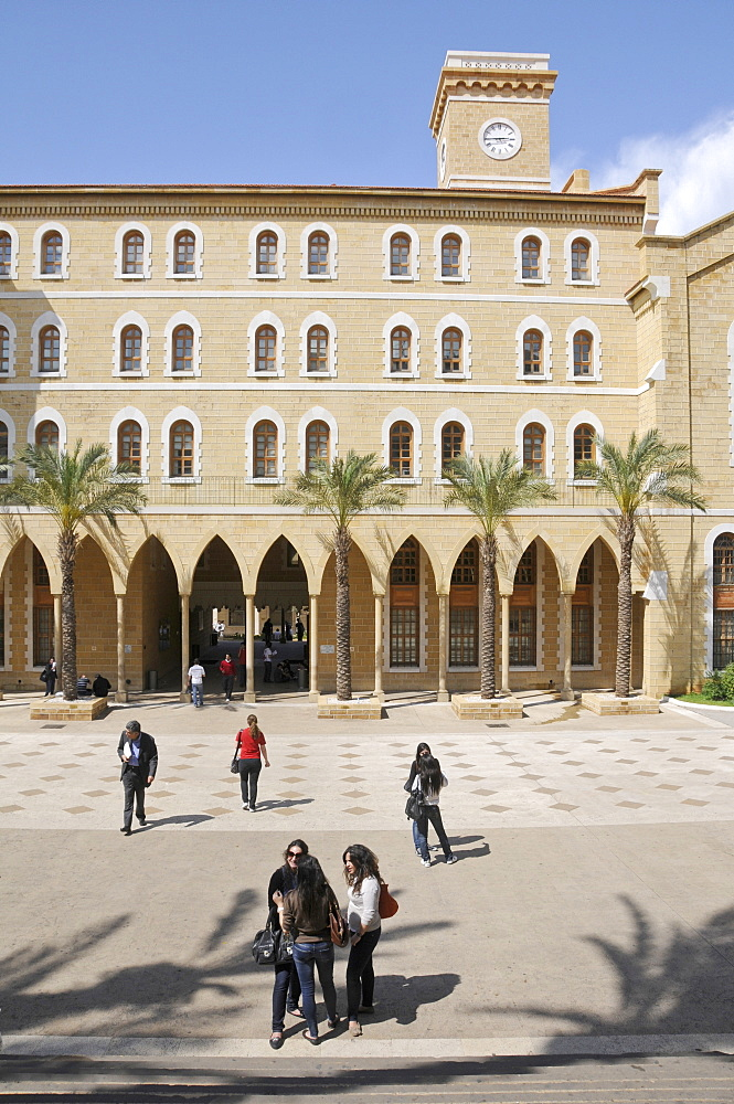 Campus of the renowned American University, Beirut, Lebanon, Middle East