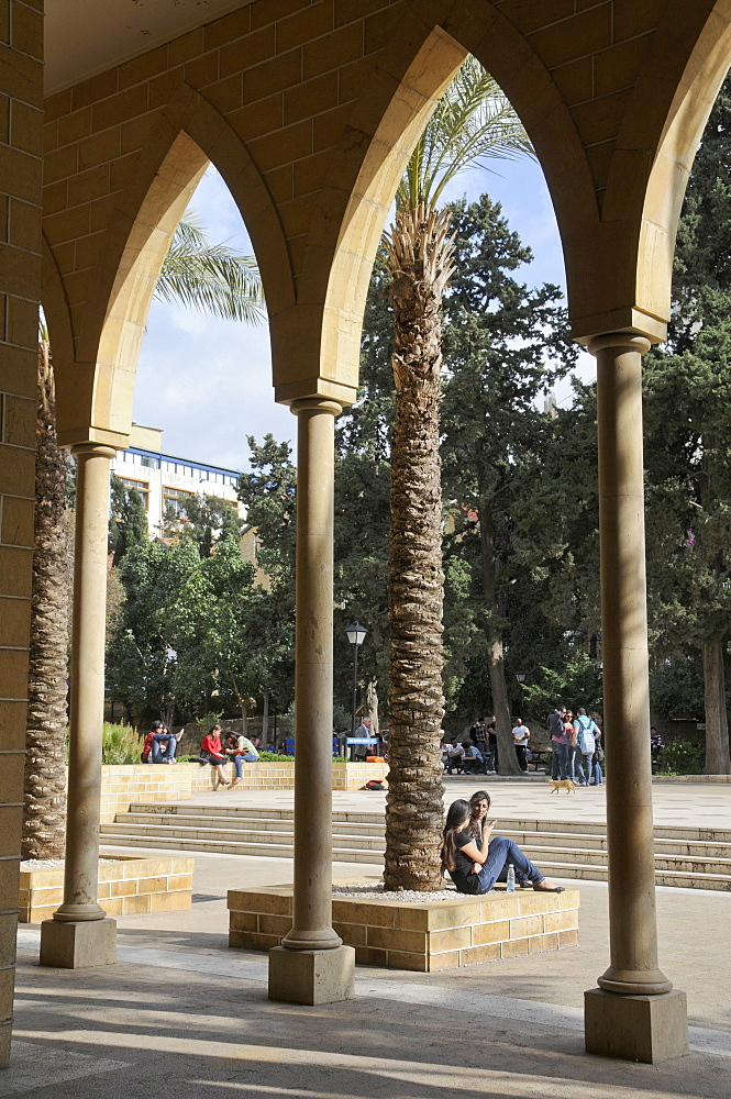 Campus of the renowned American University, Beirut, Lebanon, Middle East - 1188-852