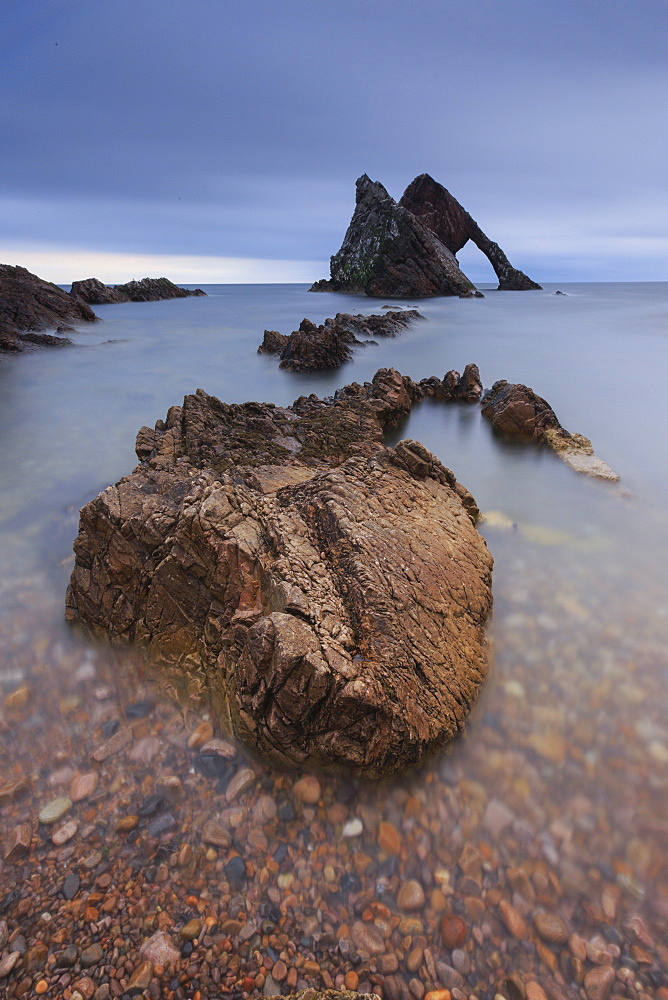 Bow Fiddle Rock, Portnockie, Moray, Scotland, United Kingdom, Europe - 1189-12