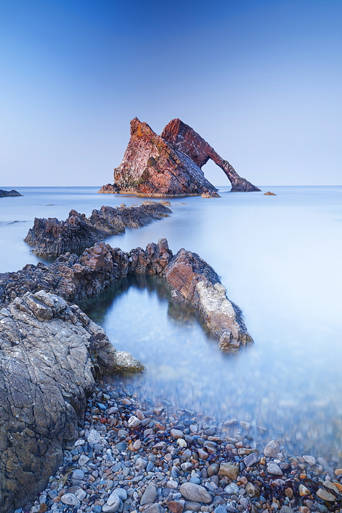 Bow Fiddle Rock, Moray Firth, Moray, Scotland, United Kingdom, Europe