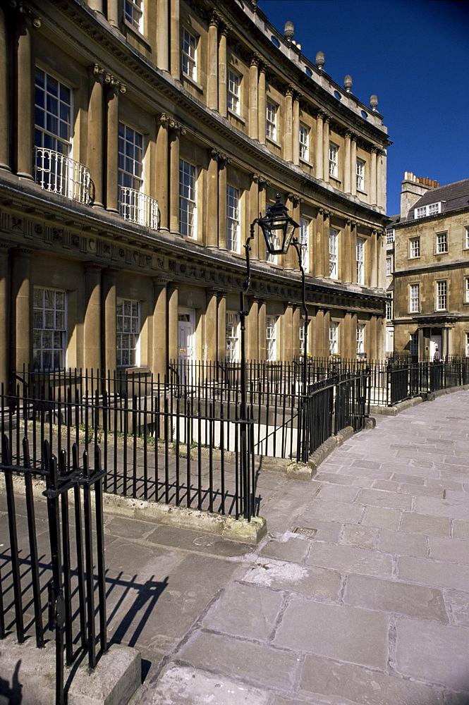 The Circus, Georgian terrace, Bath, UNESCO World Heritage Site, Avon, England, United Kingdom, Europe