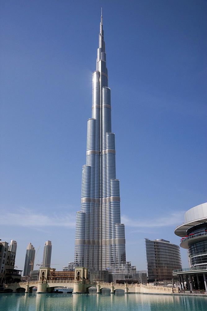 Burj Dubai completed at 818 meters. Dubai