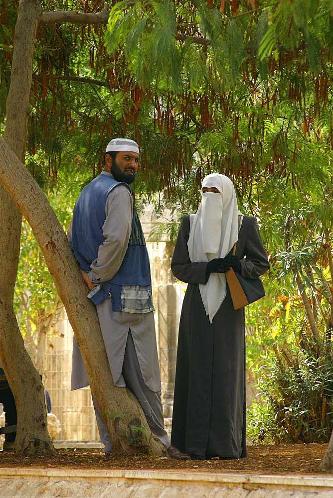 Man and women in amman, jordan