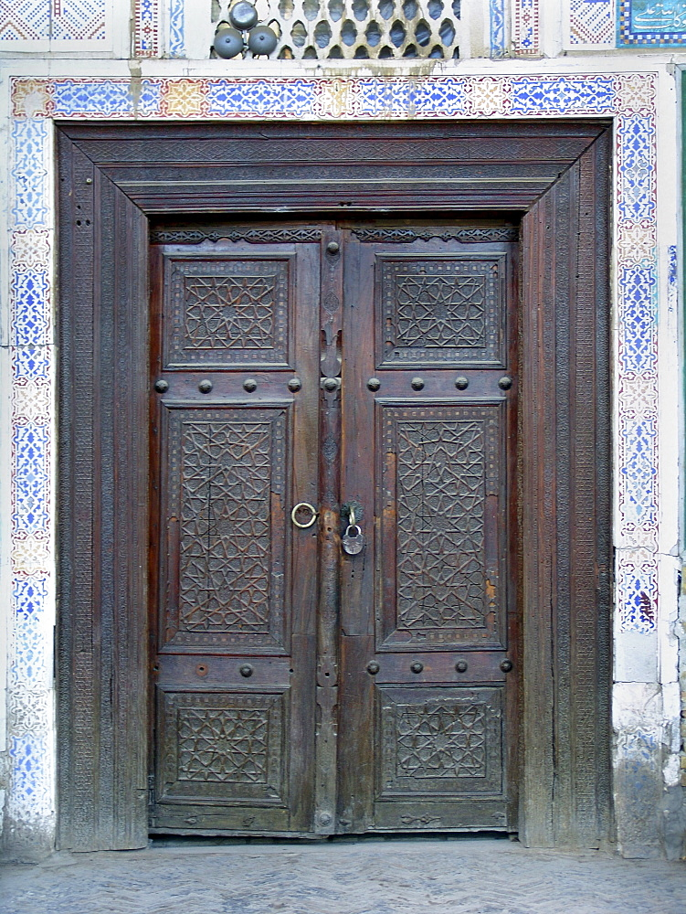 Uzbekistan door of the bolo hauz mosque, bukhara