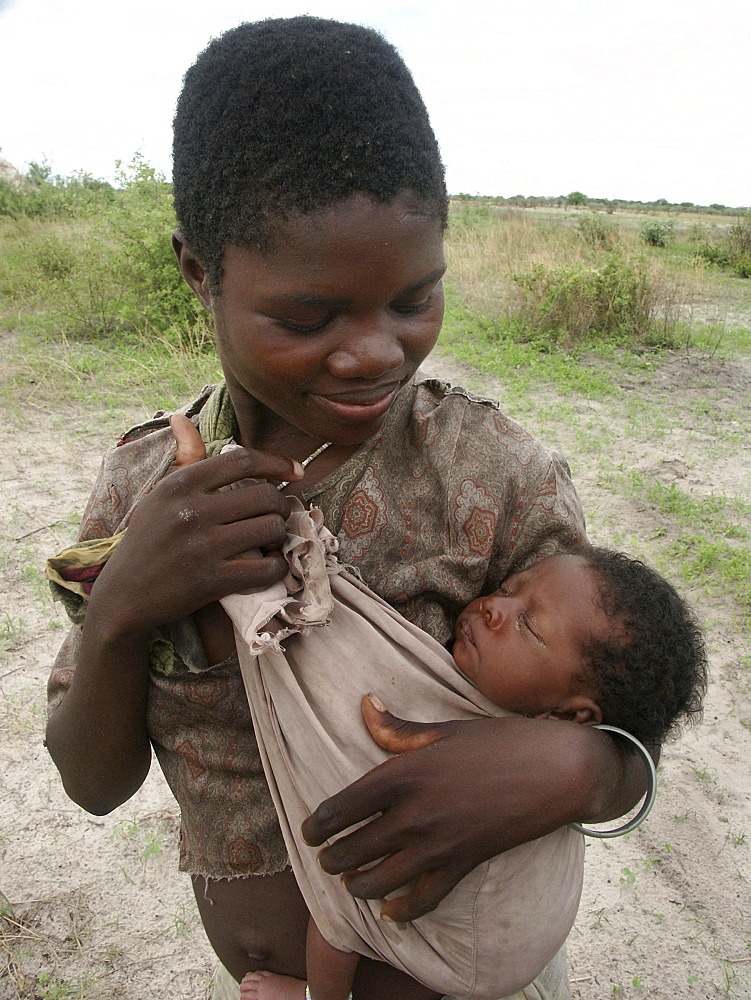 Zambia woman and baby, shangombo