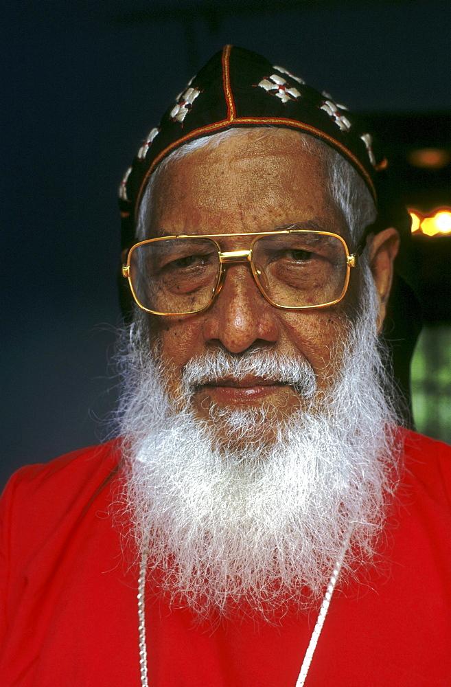 India - religion - christian bishop abraham clemis, head of syrian-jacobite church, kottayam, kerala