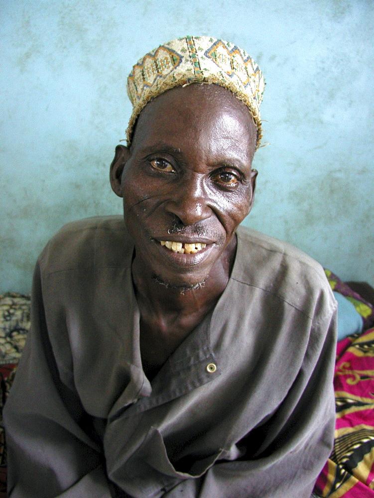 Benin man at st. catholic hospital parakou
