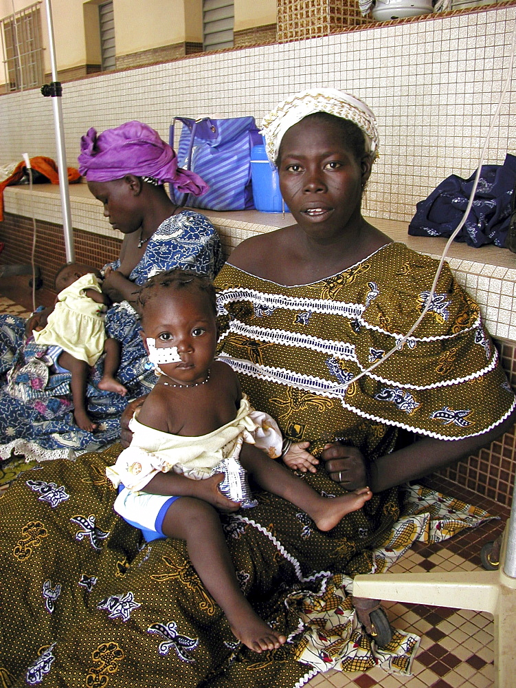 Burkina mother and at a nutrition center ouagadougou