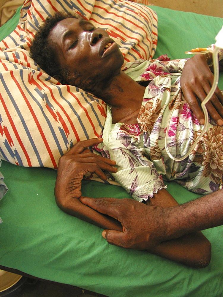 Ghana abiba zakariah (62) who is blind and hiv+ at sheikhanah clinic, tamale
