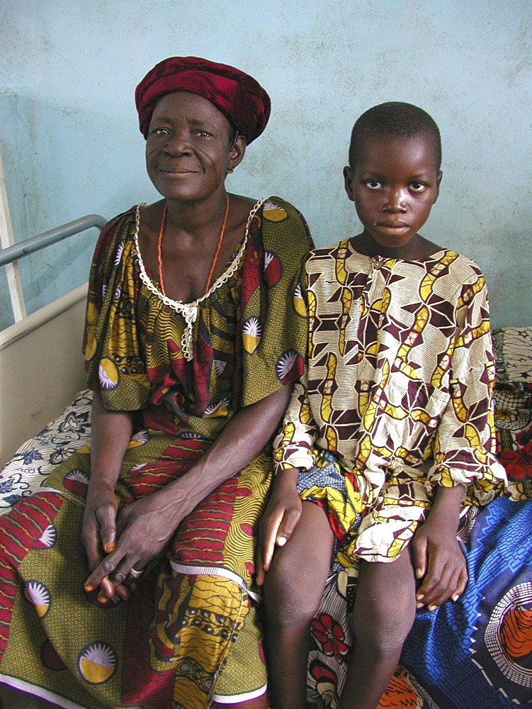 Benin woman and boy, parakou