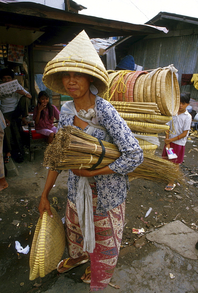Indonesia brush and basket seller jakarta