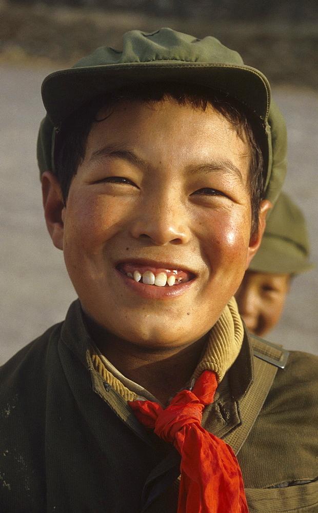 Tibet (china) tibetan schoolboy gyantse