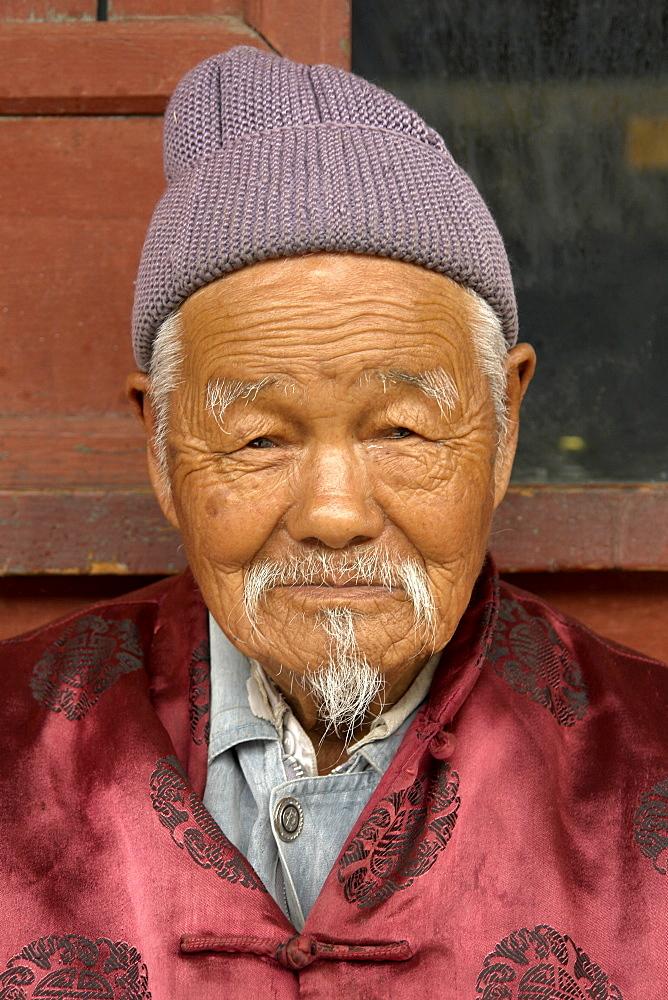 China old man of dali town, yunnan province.
