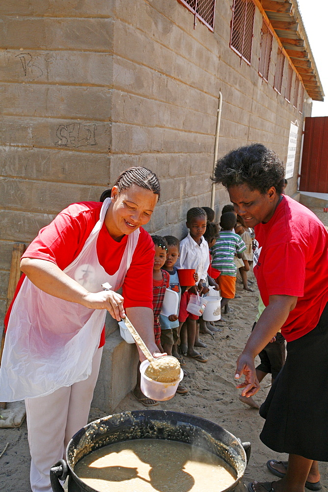 Namibia soup kitchen by catholic aids action, to feed poor children, many of whom aids orphans, at their centre in rehobeth