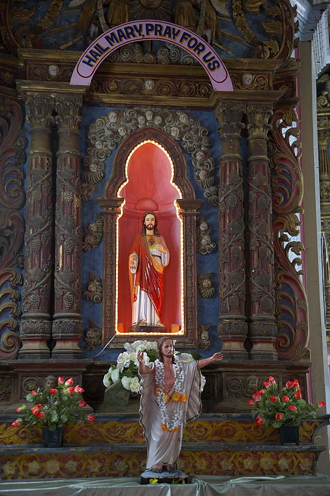 India. Pilgrimage to malayattoor, a hill which saint thomas the apostle is believed to have climbed around 55 ad, leaving his footprints at the top. It is a major pilgrim centre for christians as well as hindus and moslems, who believe the trip can cure them of physical and mental disease. Kerala. Statue of jesus in the lower church