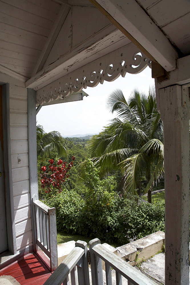 Jamaica. View of old wooden house, seaford town