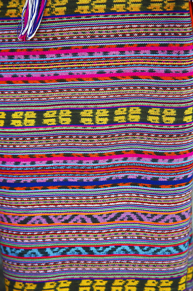 East timor. Detail of traditional ikat weave, oecussi-ambeno