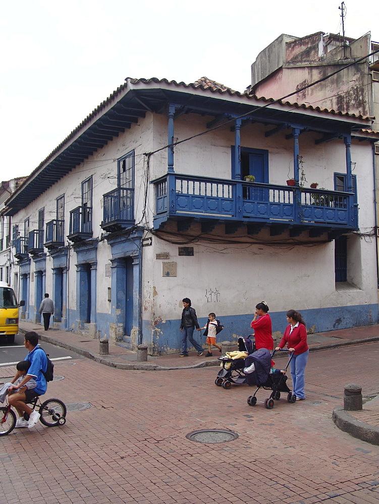 Colombia colonial architecture of la candelaria, bogota