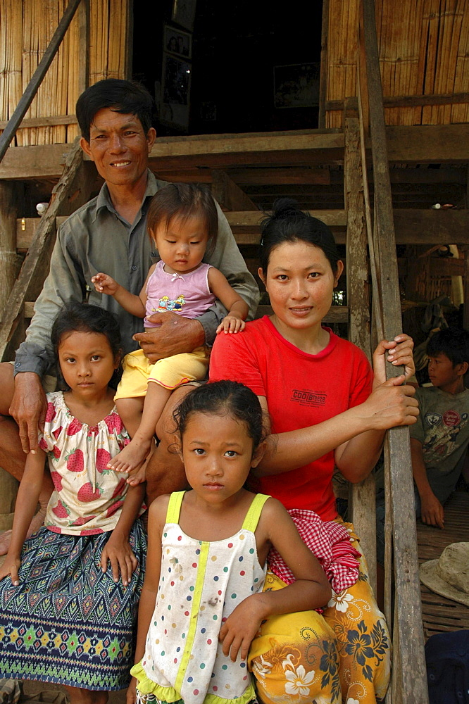 Cambodia family of trac village, kampong cham